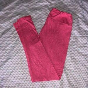 LuLaRoe Pants - Pink Heather LLR OS Leggings NWOT